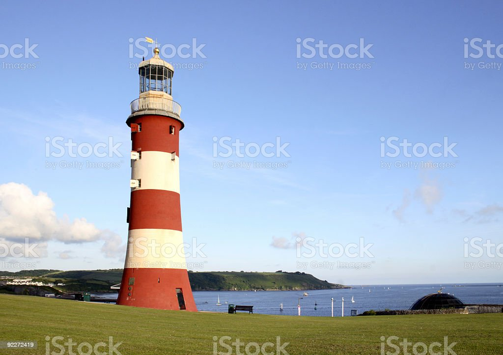 Smeaton Tower lighthouse on Plymouth Hoe royalty-free stock photo
