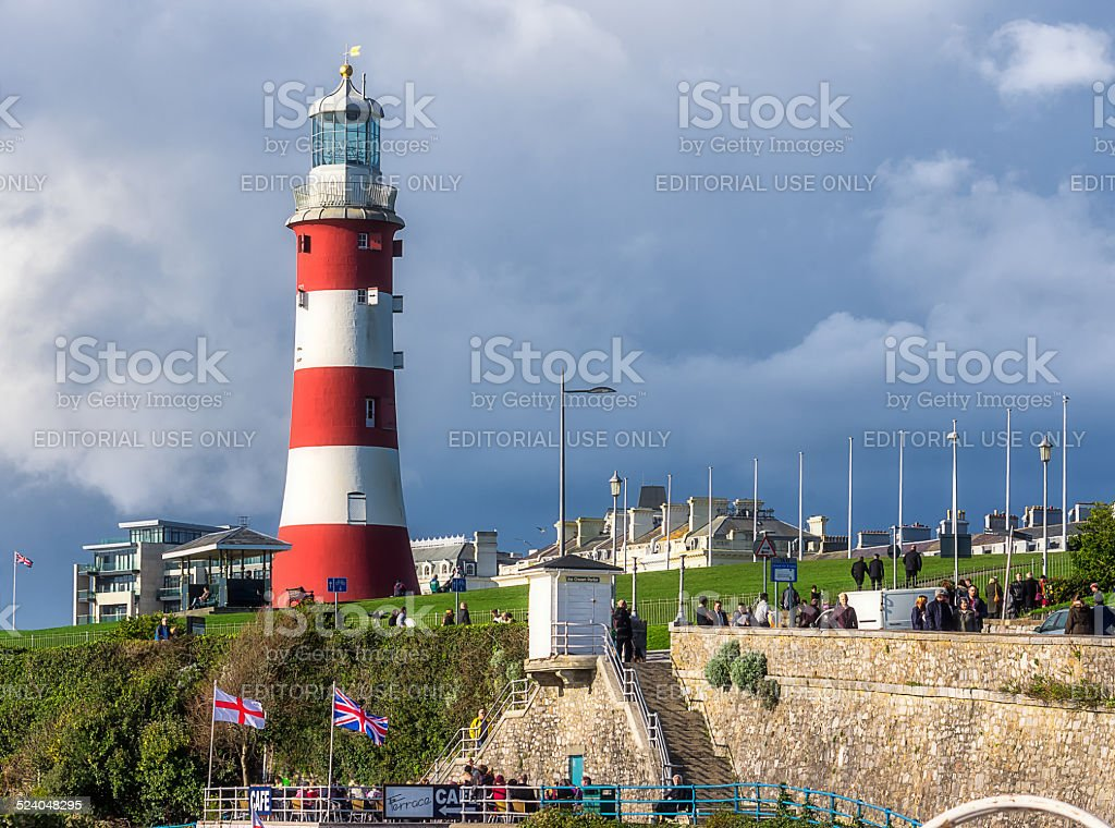 Smeaton's Tower on the Hoe in Plymouth stock photo