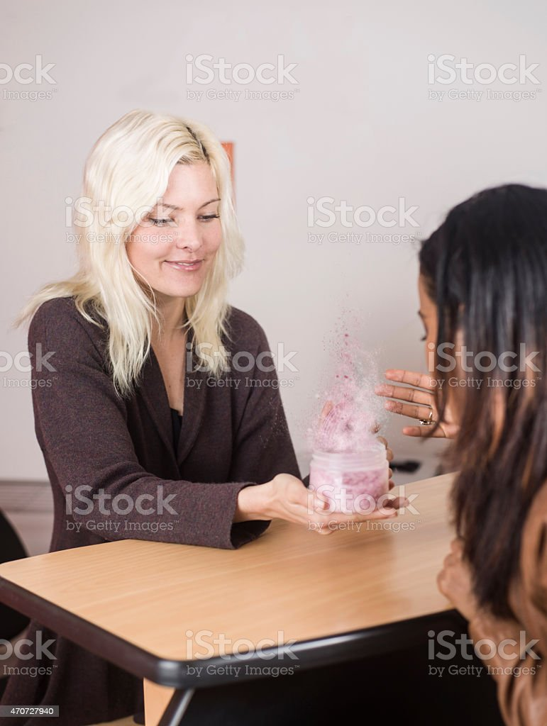 Smell this stock photo