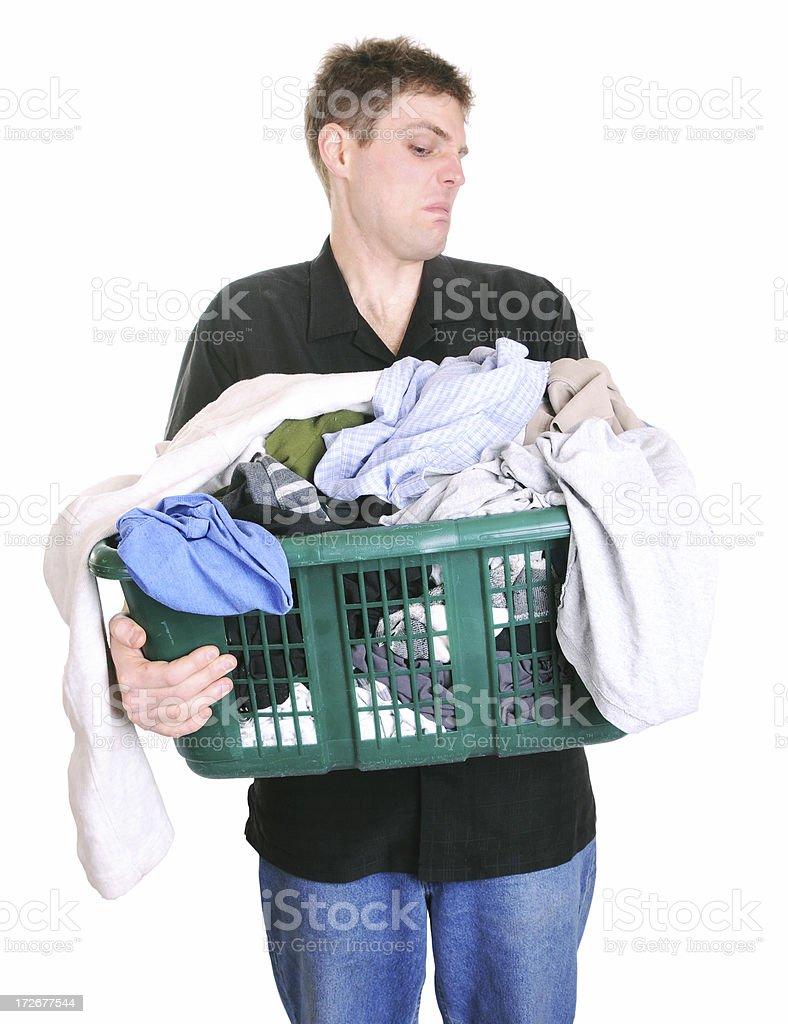 Smelly Laundry stock photo