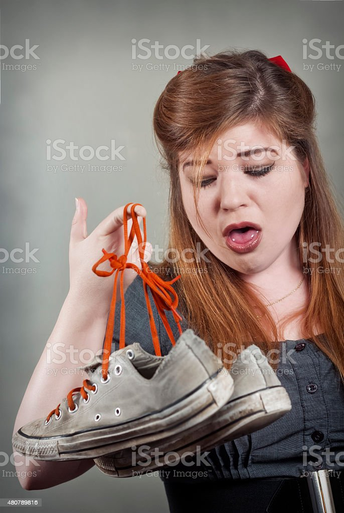Smelly Shoes stock photo