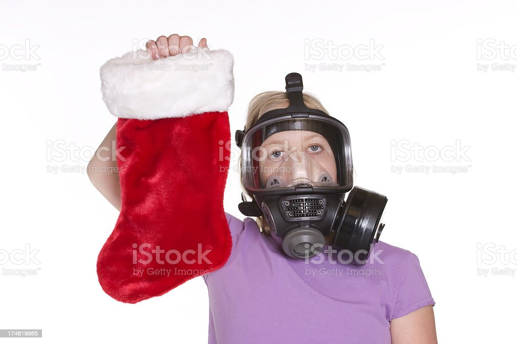 Smelly Stocking and Gas Mask royalty-free stock photo