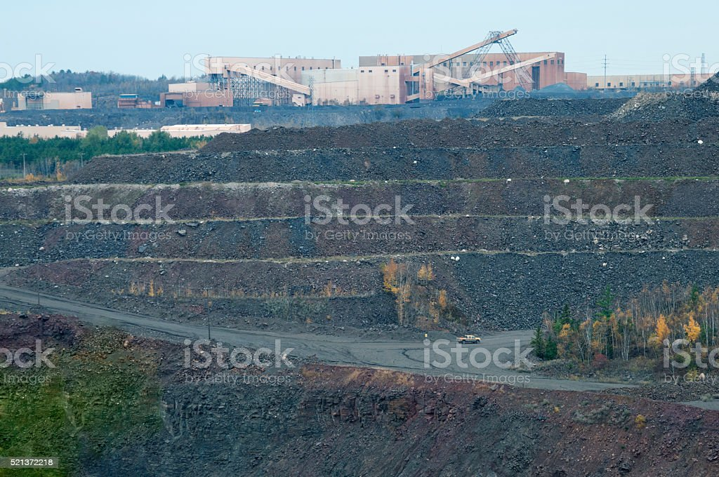 Smelter at iron ore mine in northern Minnesota stock photo