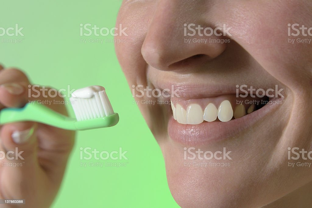 smile and healthy white teeth stock photo