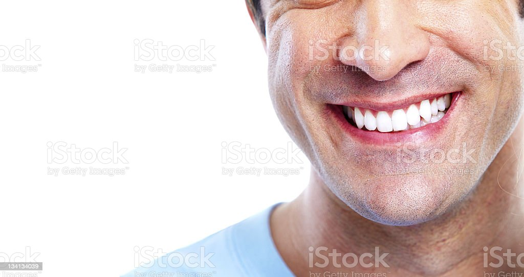 Smile and teeth stock photo