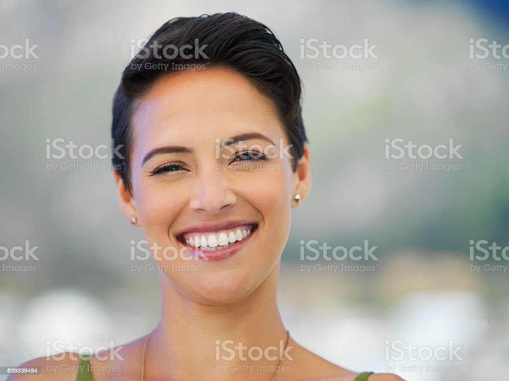 Smile and the world smiles with you stock photo