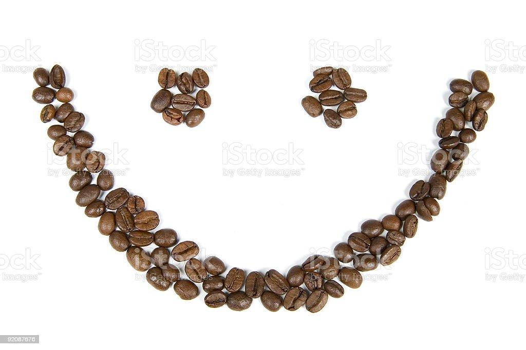 Smile Coffee Beans stock photo