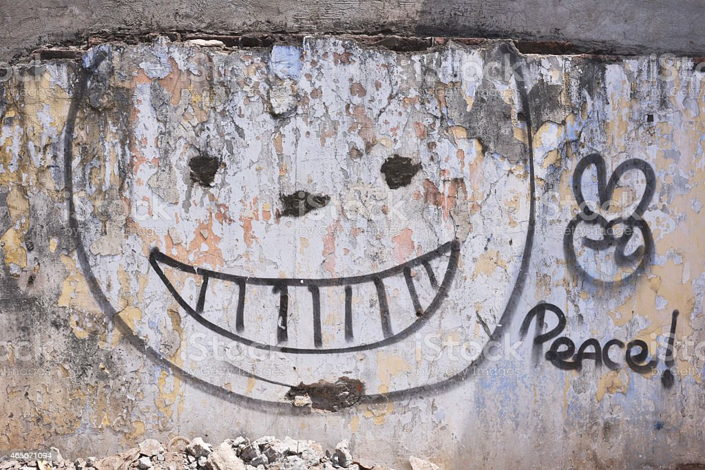 Smile face Wall royalty-free stock photo