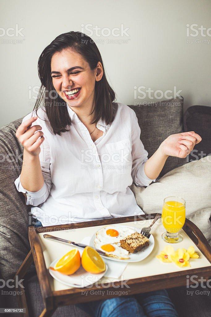Smile for good morning stock photo