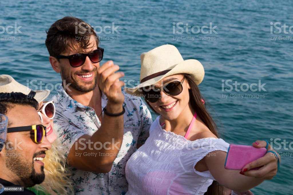 Smile For The Camera Guys stock photo
