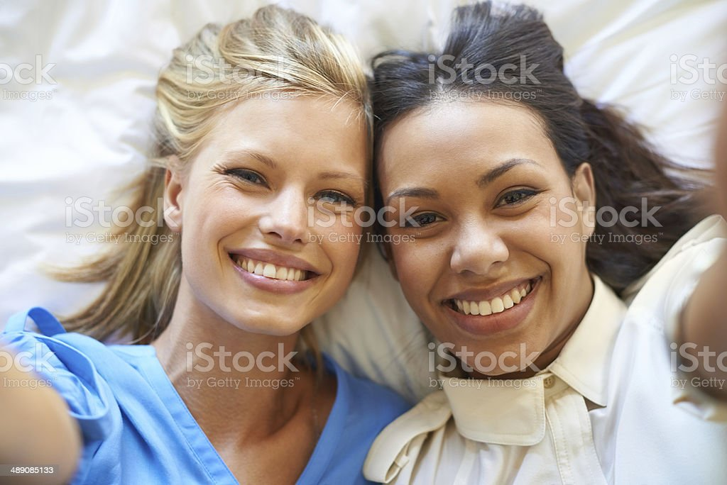 Smile for the camera stock photo