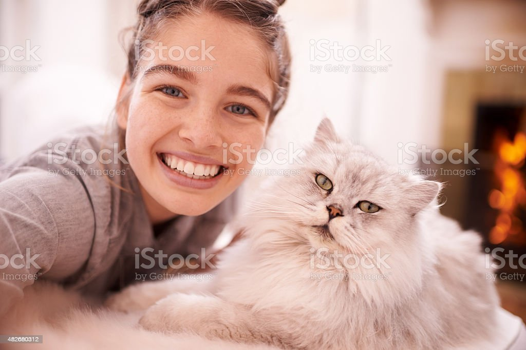 Smile for the selfie! stock photo