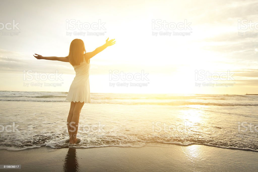 Smile Free and happy woman stock photo