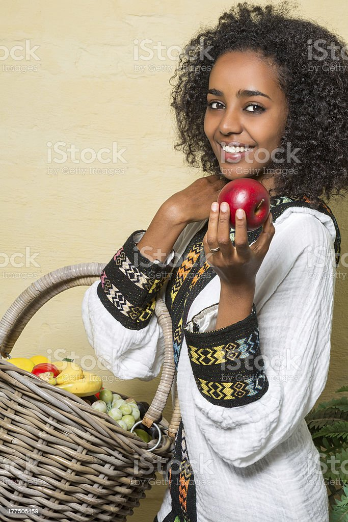 Smile from Ethiopian woman stock photo