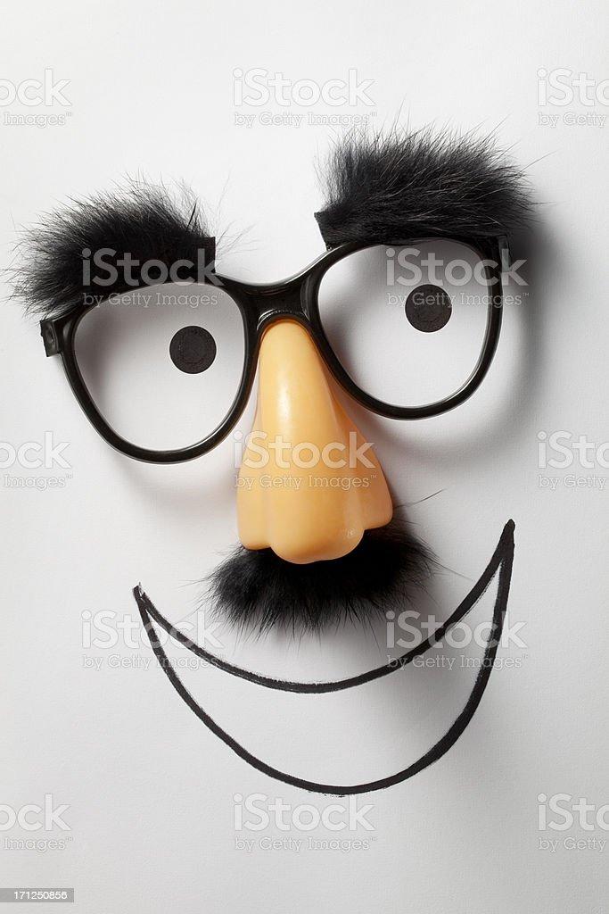 Smile. Funny glasses. stock photo