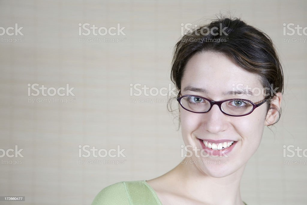 Smile, Head Turned royalty-free stock photo
