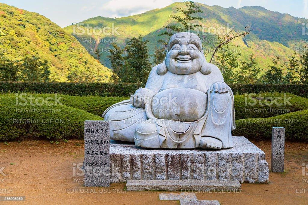 Smile Kensenen Buddha at Seiganto-ji templein Wakayama, Japan stock photo
