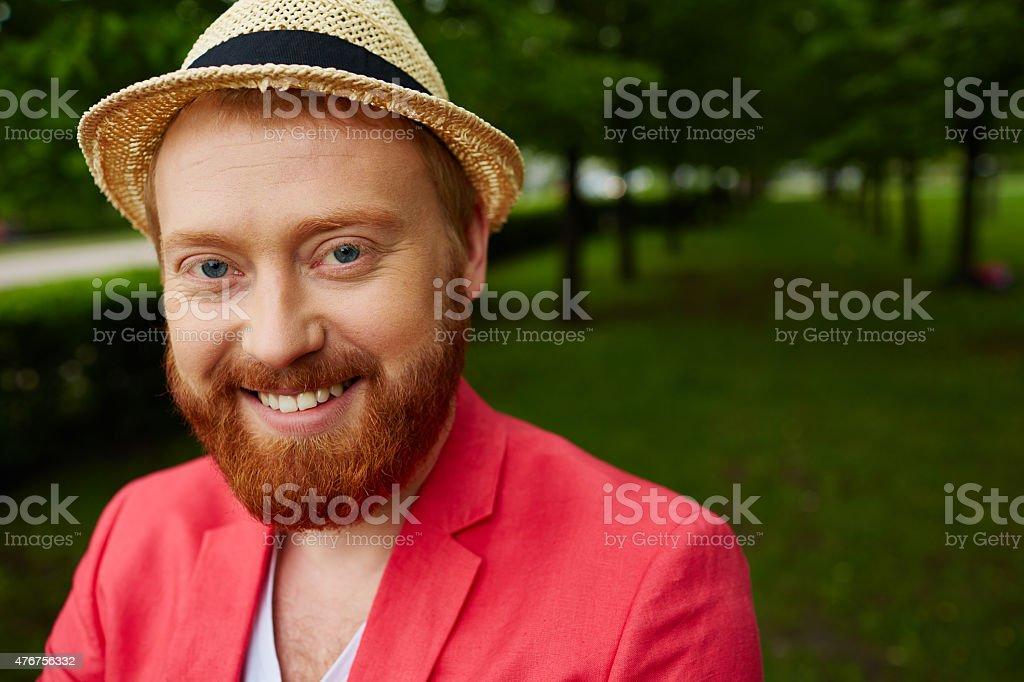 Smile of joy stock photo
