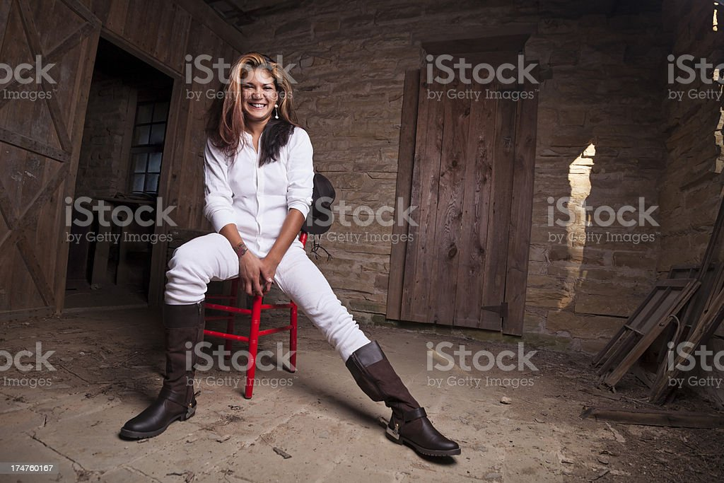 smile of the west royalty-free stock photo