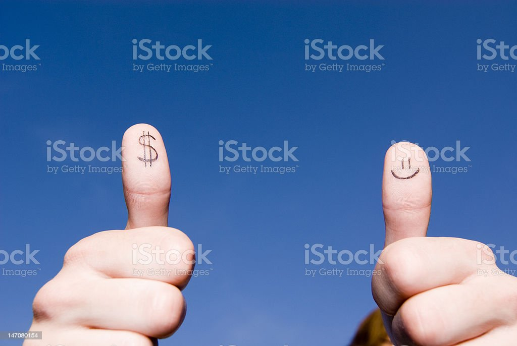 Smile on a dollar stock photo
