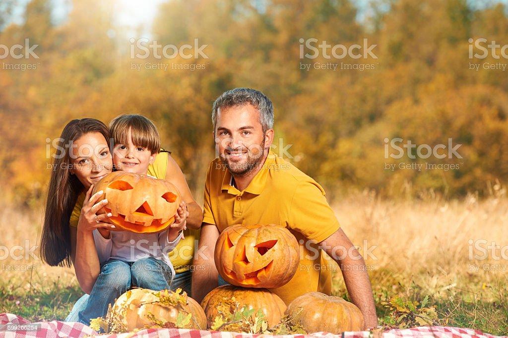 smile on Halloween celebration stock photo