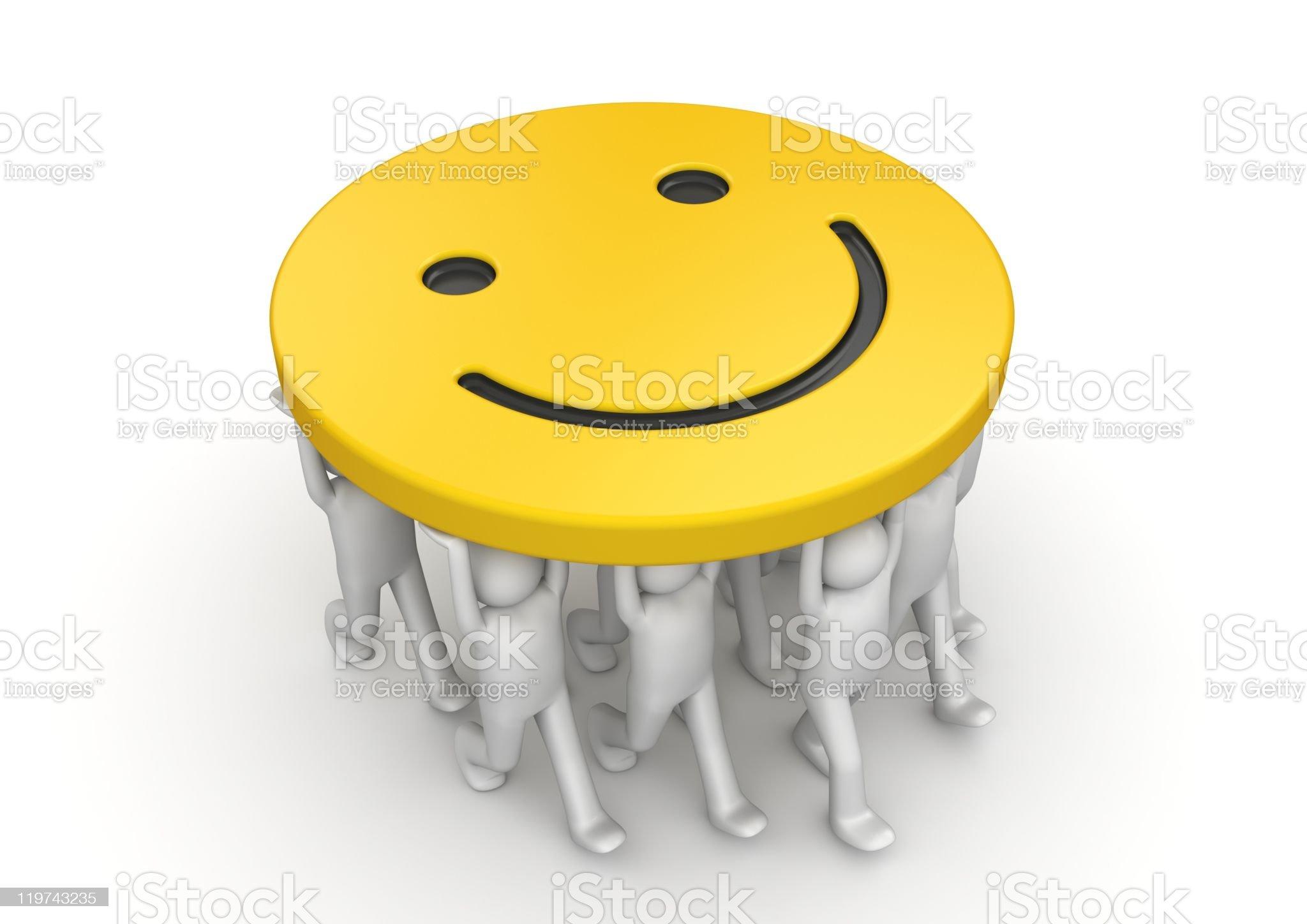Smile ;) to me! royalty-free stock photo