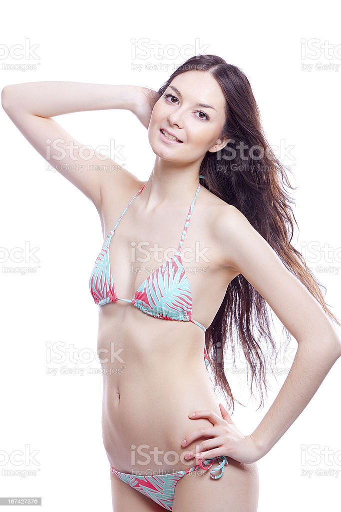 smile woman in bathing suit royalty-free stock photo