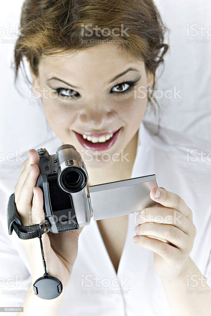 Smile, you're on camera! royalty-free stock photo