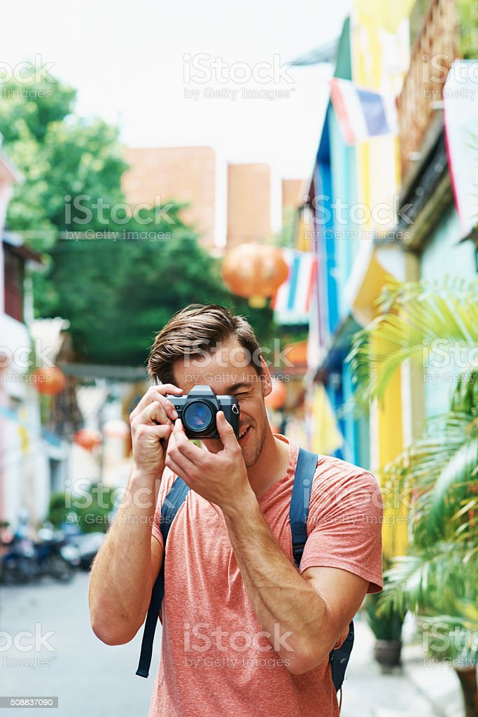 Smile! You're on holiday! stock photo