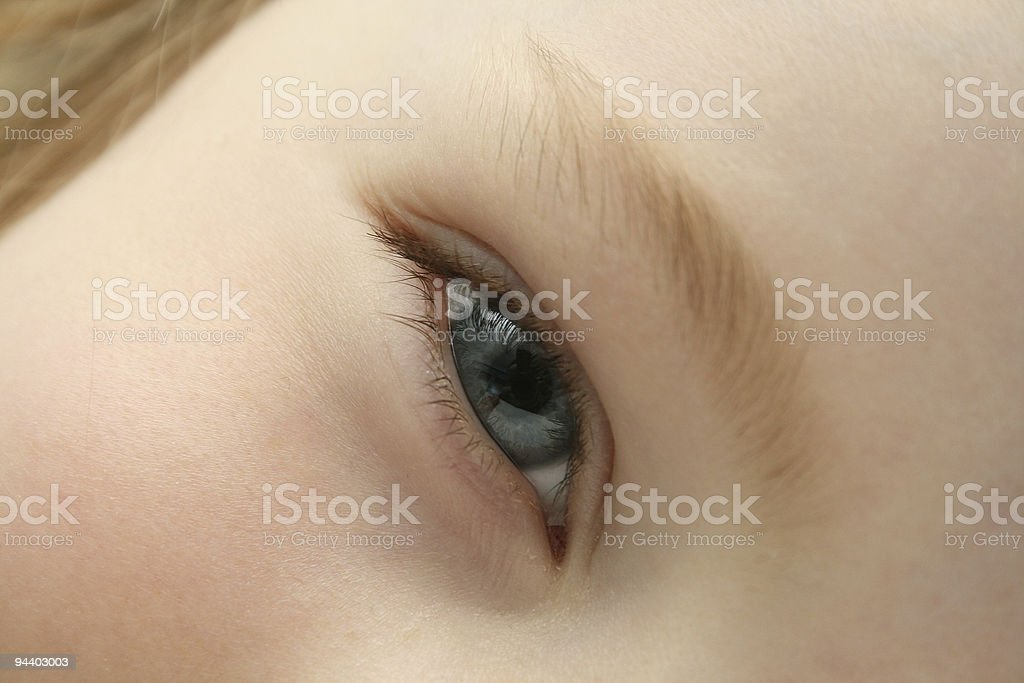 Smiled blue eye girl stock photo