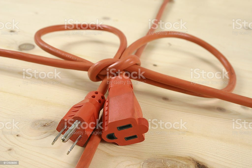 Smilely cord wraped in a bow stock photo