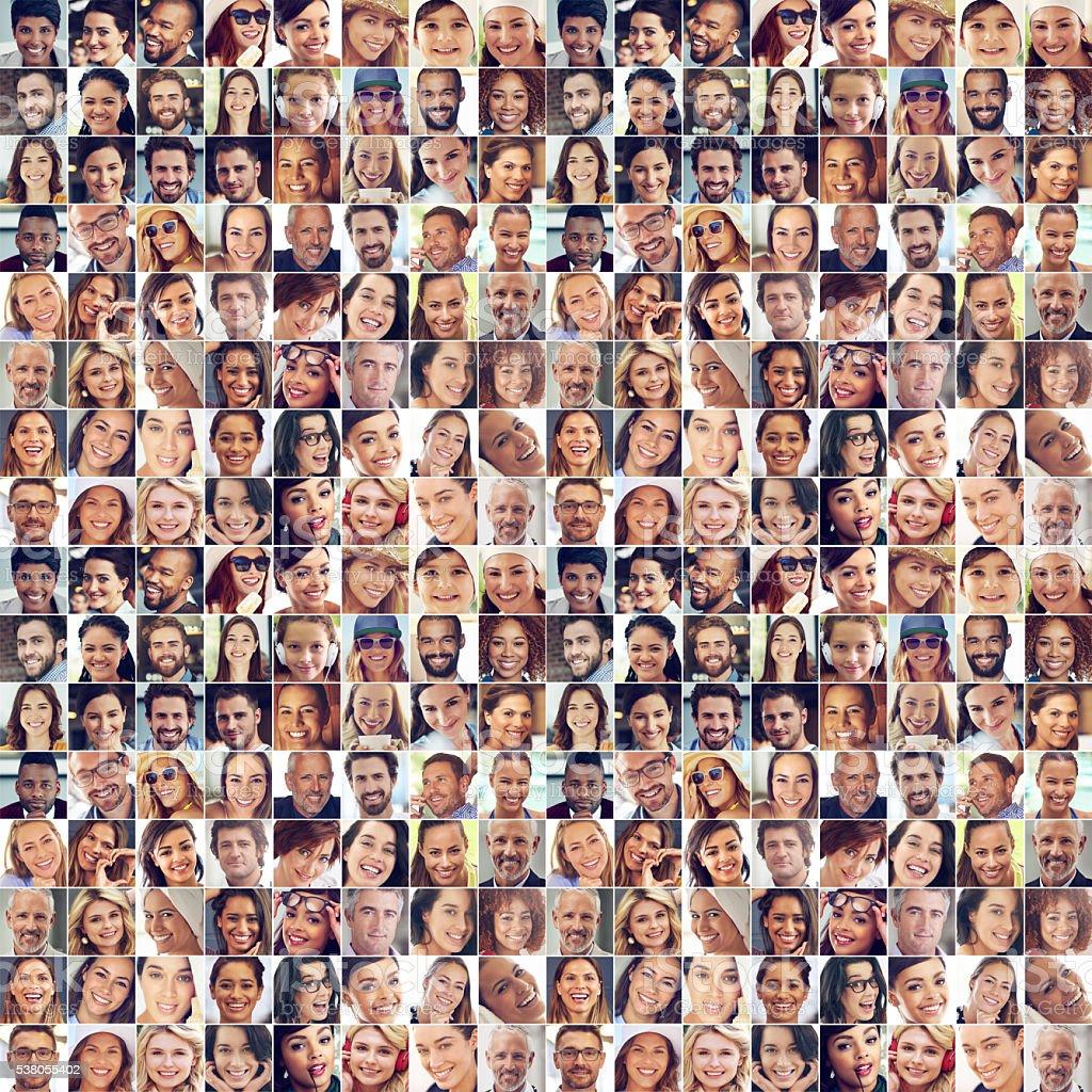 Sorrisos de todo o mundo - fotografia de stock