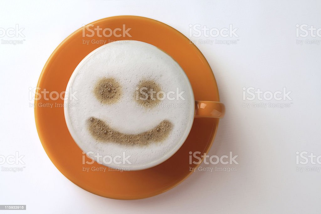 smiley coffee cup royalty-free stock photo