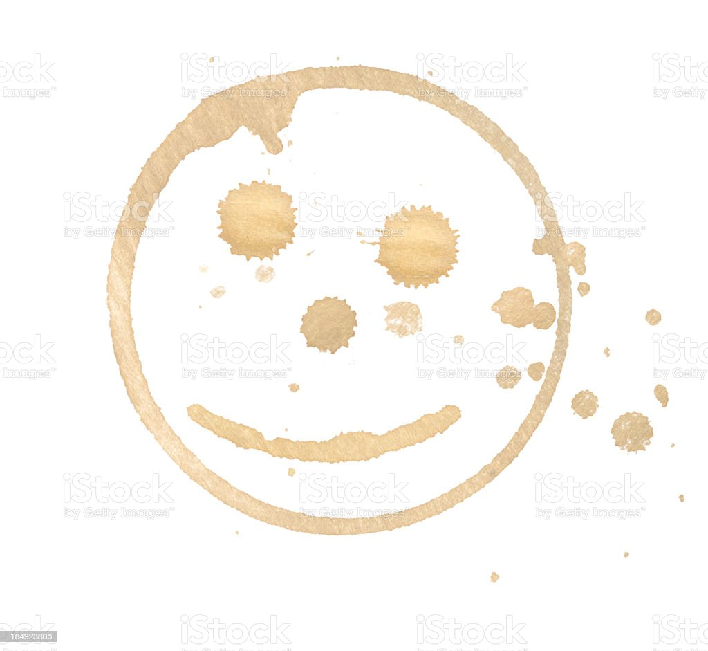 smiley coffee stain stock photo