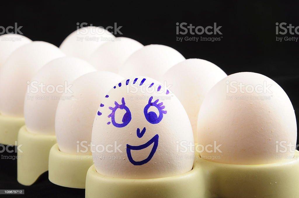 smiley egg royalty-free stock photo
