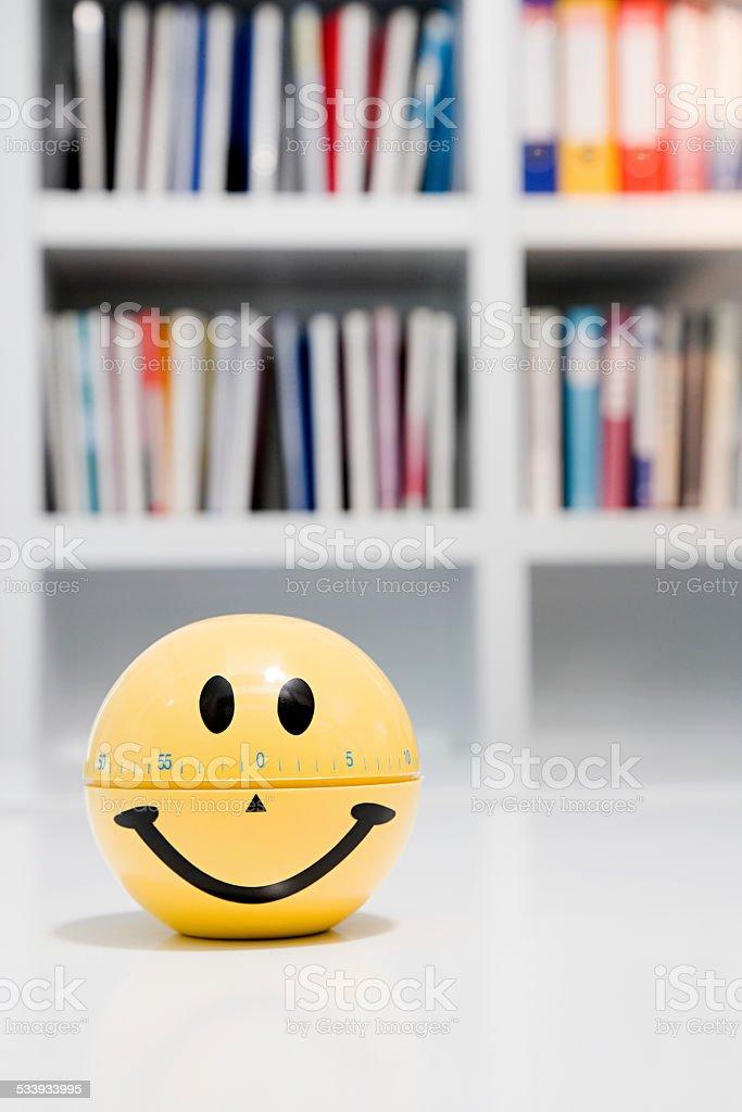 Smiley face egg timer stock photo