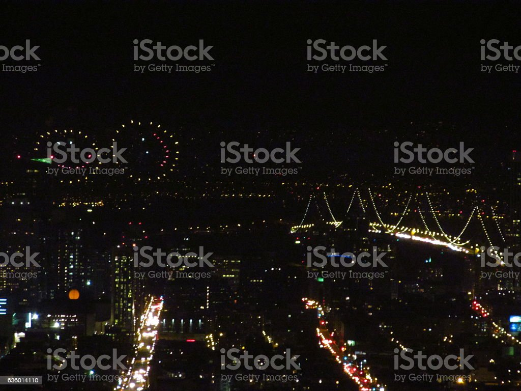 Smiley Faces Over San Francisco stock photo