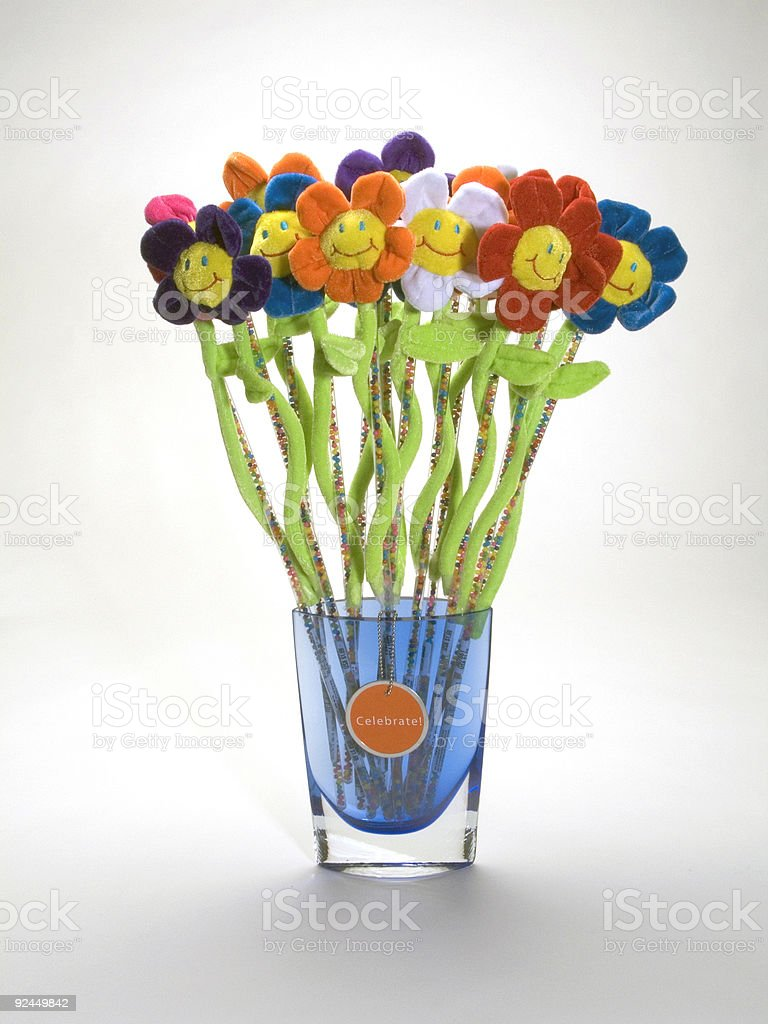 Smiley Flowers in Vase royalty-free stock photo