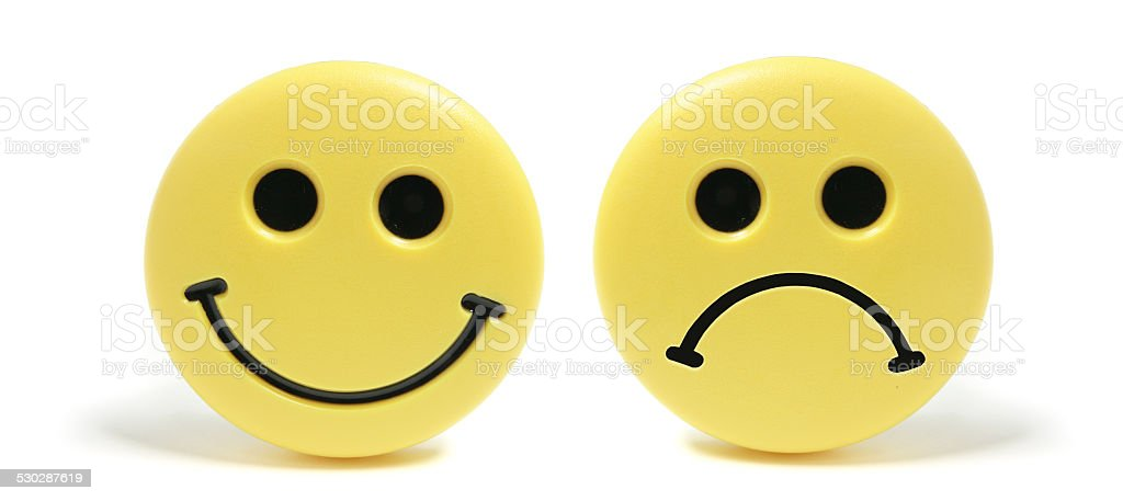 Smiley Fridge Magnets stock photo