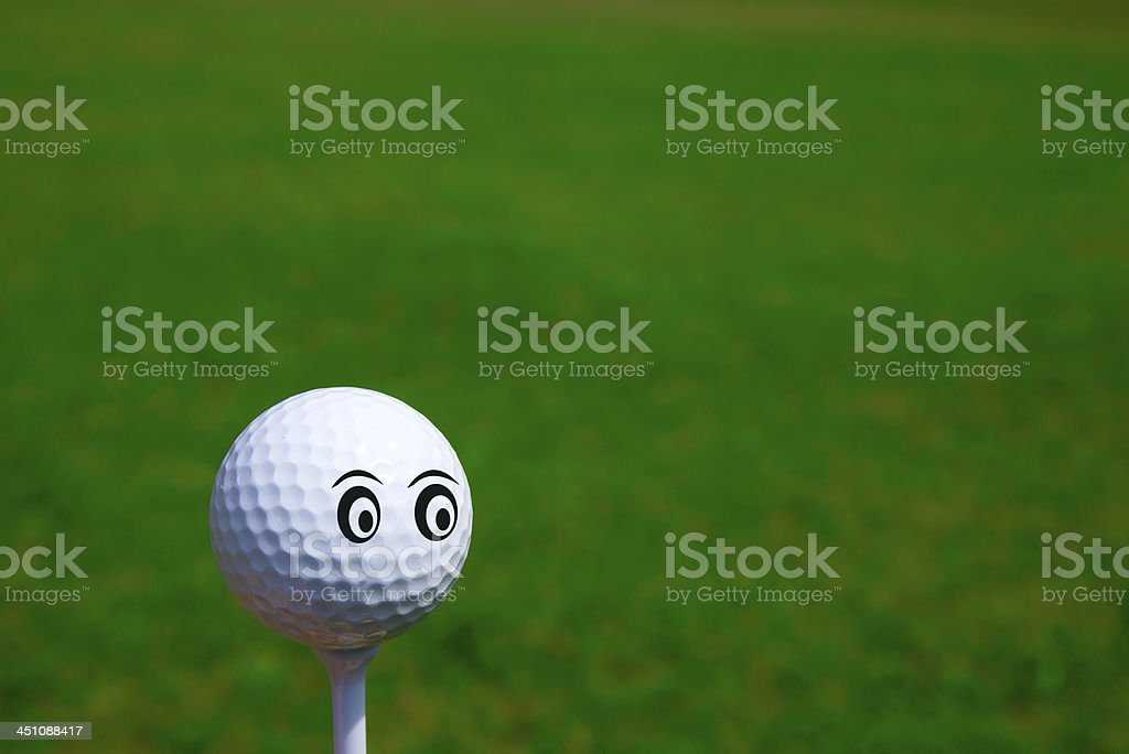 Smiley Golf royalty-free stock photo