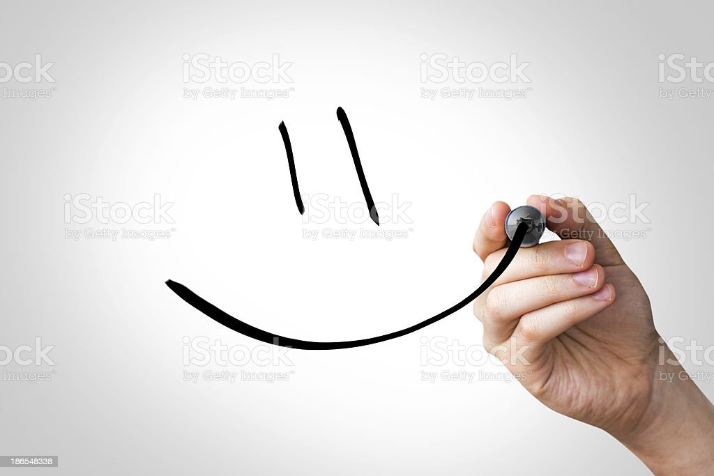 Smiley Handwriting stock photo