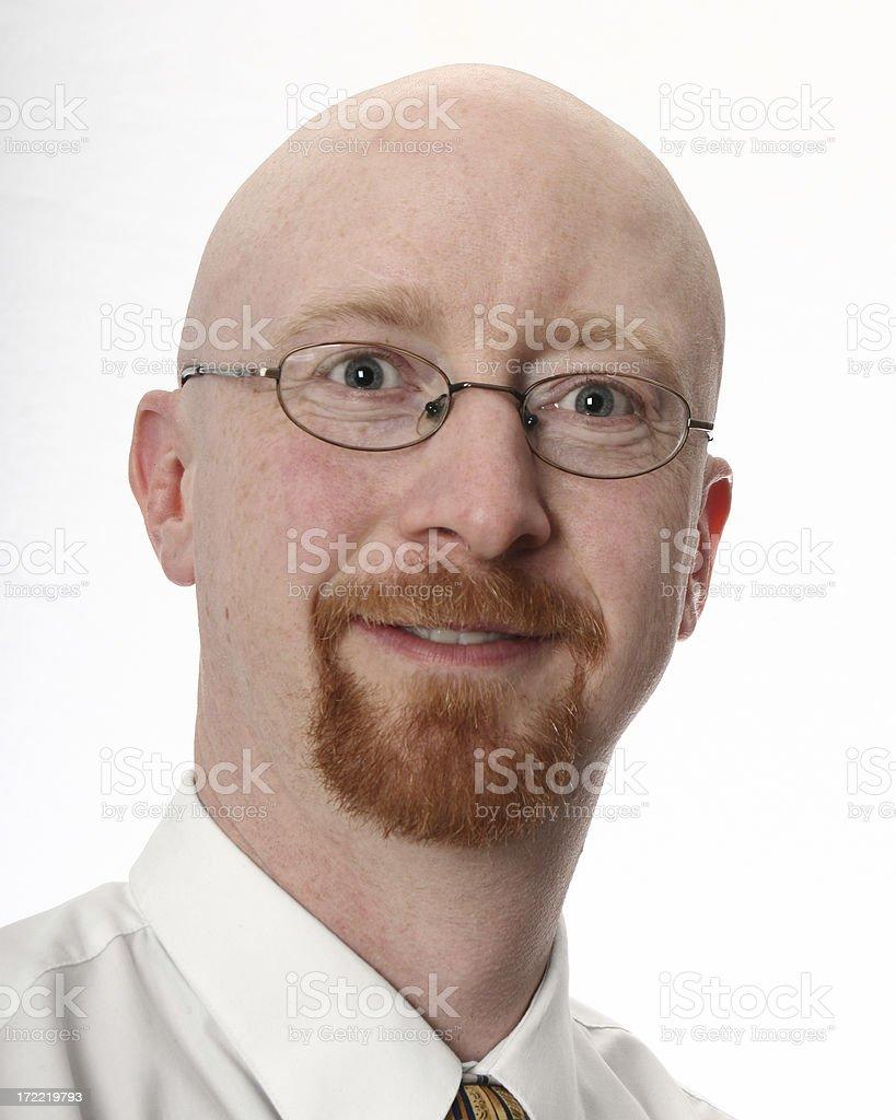 Smiley Headshot royalty-free stock photo