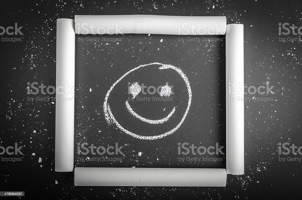 Smiley in Chalk Frame stock photo