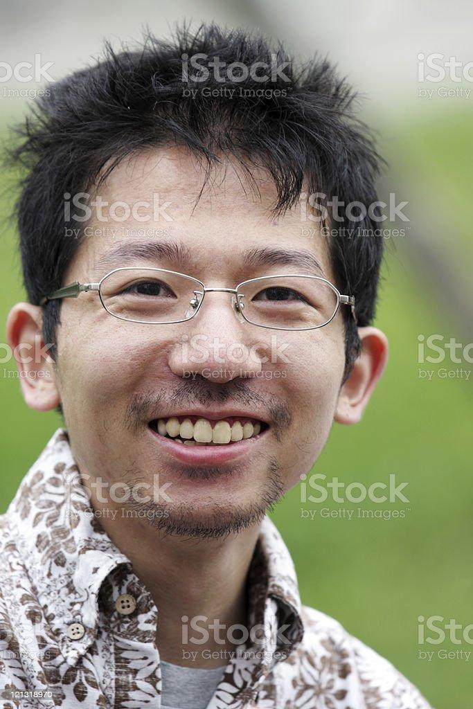 Smiley japanische junger Mann Lizenzfreies stock-foto