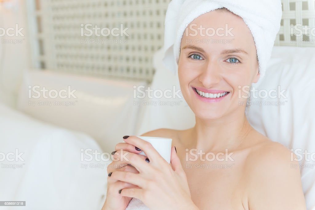 Smiley morning cheers you up ! stock photo