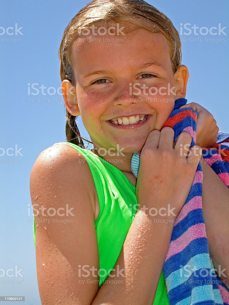 Smiley Swimmer royalty-free stock photo