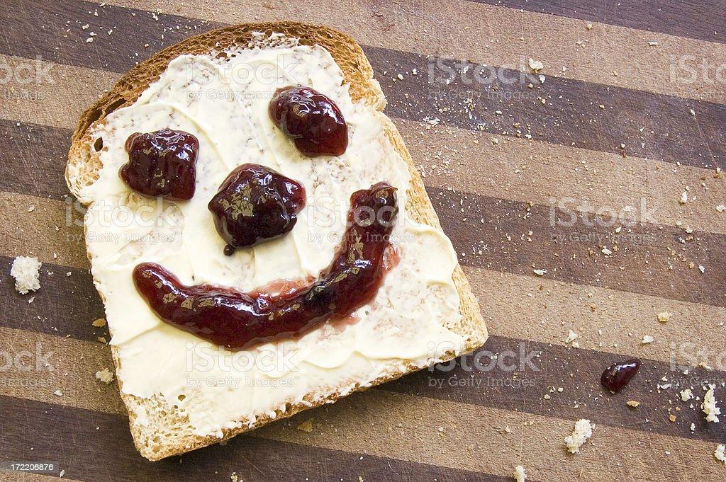 Smiley Toast royalty-free stock photo