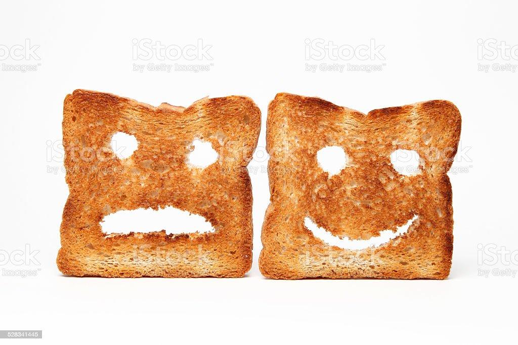 Smiley Toast stock photo