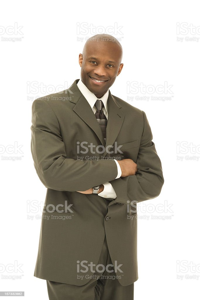 Smiling African American Businessman stock photo