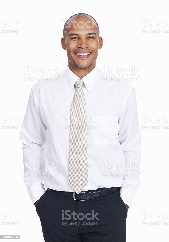 Smiling African American male executive stock photo